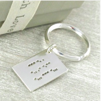Personalised Silver Love Letter Charm in Morse Code