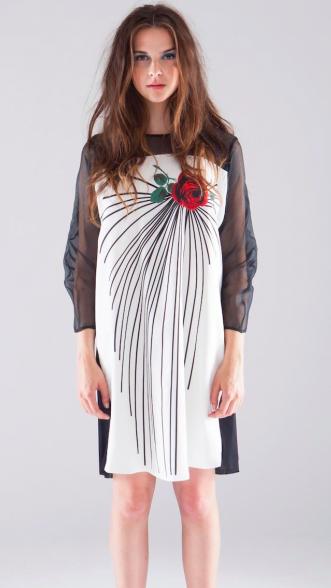 Natalie B Coleman Rose Heart & Silk Organza Dress