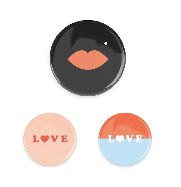 Bing Bang Jewellery Valentine Button Set
