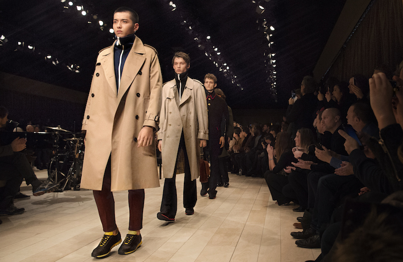 Burberry Menswear January 2016 Show Finale