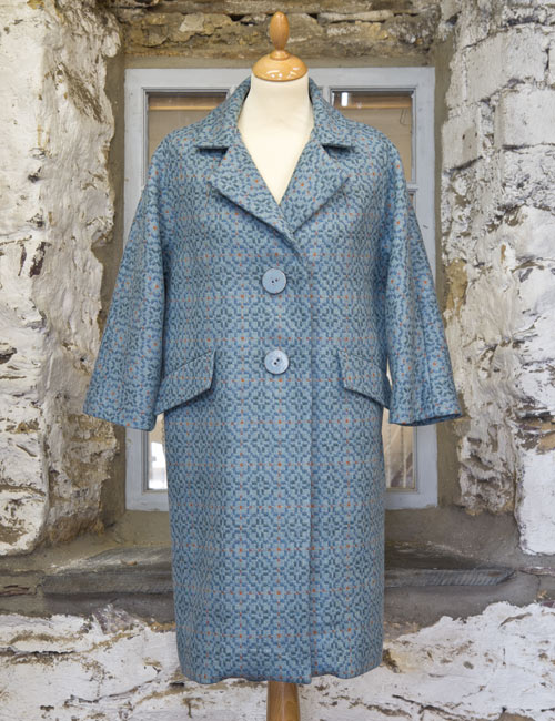 Vintage Rose Light Grey 50's Style Coat
