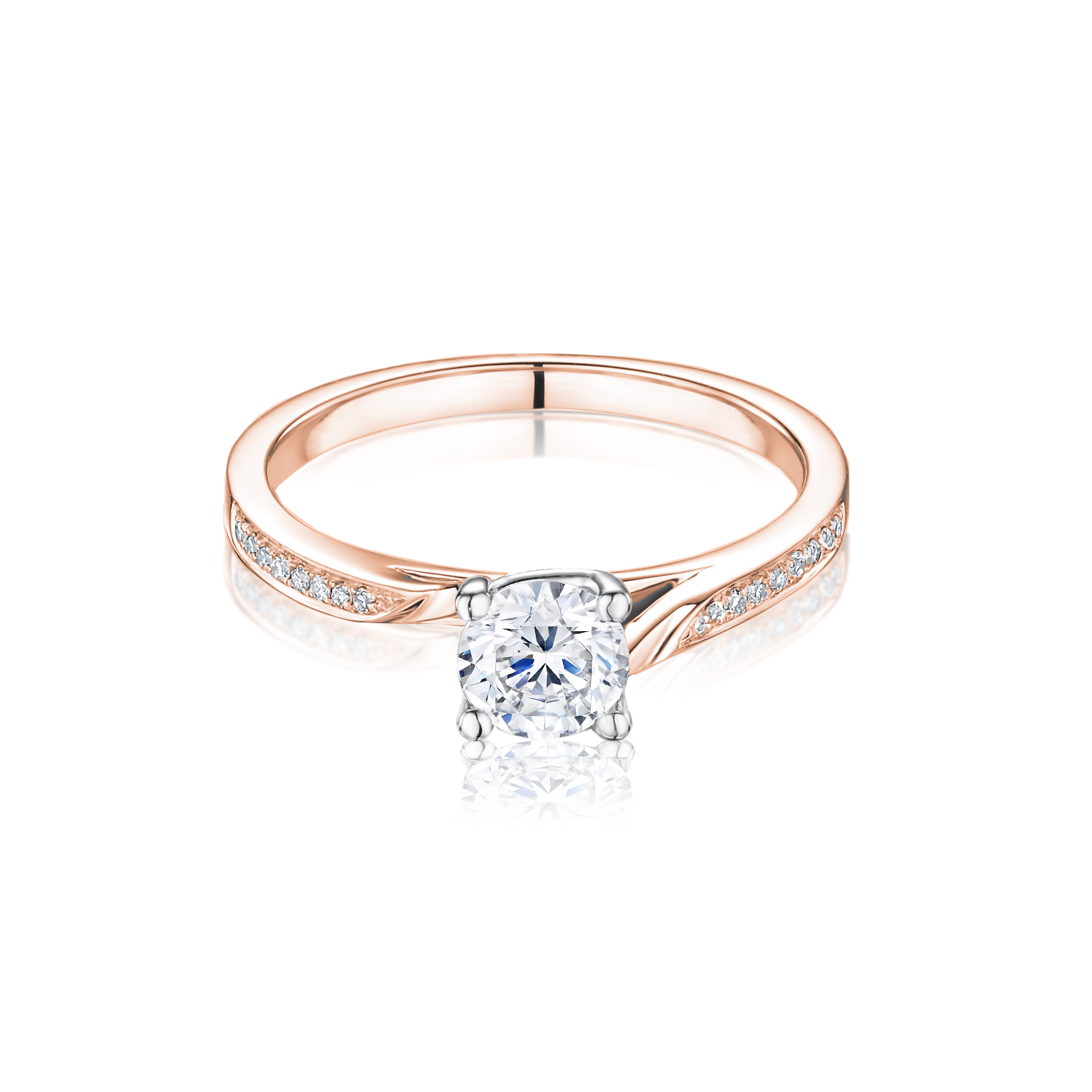 Isabella Diamond Set Engagement Ring in 18ct rose gold £1,295