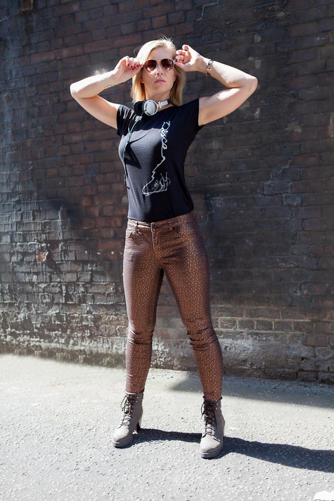 Crepe Records Disco Snail womens t-shirt